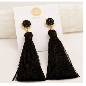 Gorjana Astoria Tassel Earrings in Black